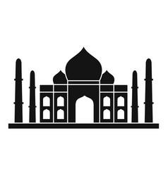 Taj mahal icon simple style vector