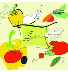template for salad menu vector image vector image