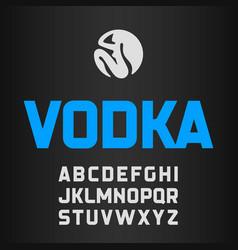 Vodka label modern style font vector