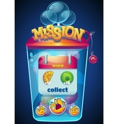 Mission collect window vector