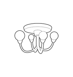Chandelier icon outline style vector