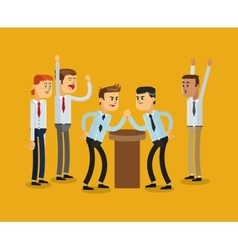 businessmen competition icon vector image
