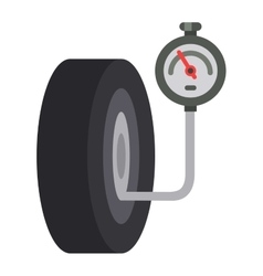 Car wheel cartoon flat vector image