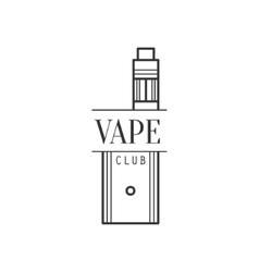Vape premium quality vapers club monochrome stamp vector