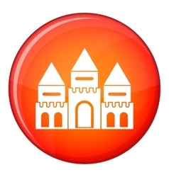 Children house castle icon flat style vector
