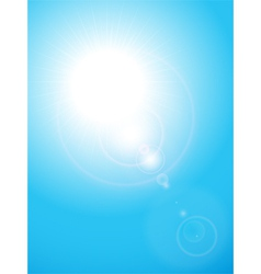 Summer blue sky vector
