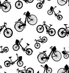 seamless bicycle bike vector image