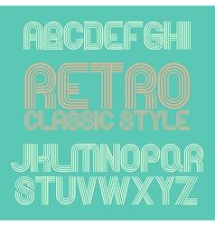 Vintage alphabet eps10 vector