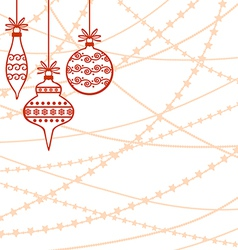 Bead white baubles vector