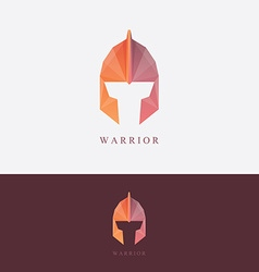 Warrior helmet document template vector