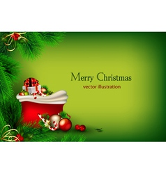 bright green christmas vector image