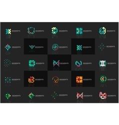 Abstract company logo collection set of vector
