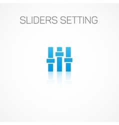 Sliders setting vector