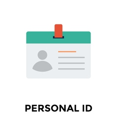 Identity card icon vector