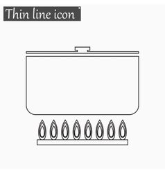 Soup icon style thin line vector