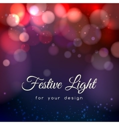 Abstract magic bokeh background vector image