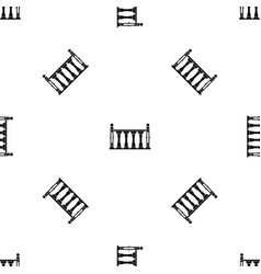Balustrade pattern seamless black vector