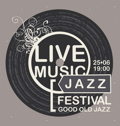 Banner for jazz festival live music vector