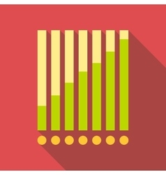 Chart graph icon flat style vector