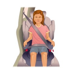Child booster seat vector