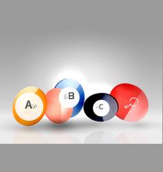 Circle banner template vector