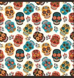 Dia de los muertos day of the dead seamless vector