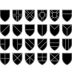 divisions of the shield vector image vector image