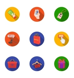 E-commerce set icons in flat style Big collection vector image