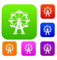 ferris wheel set collection vector image vector image