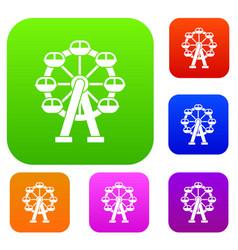 Ferris wheel set collection vector