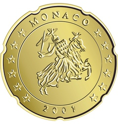 Gold monaco money vector