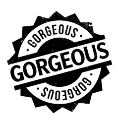 Gorgeous rubber stamp vector
