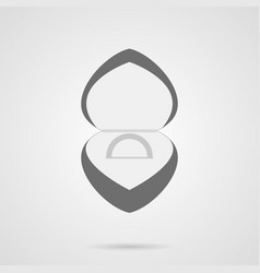 gray wedding ring in box flat icon vector image