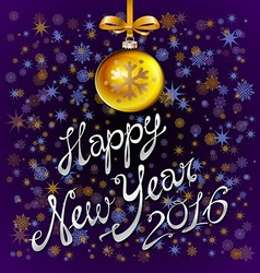 Happy New Year 2016 colorful greeting card with vector image