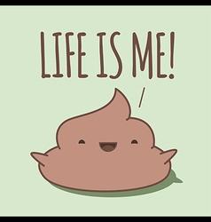 Happy poop shouting vector image