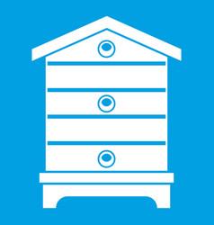 Hive icon white vector