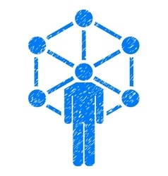 Human network grainy texture icon vector