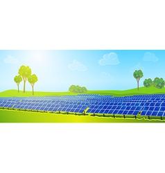 Modern solar panels vector image
