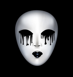 Mysterious white mask vector