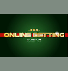 Online betting word text logo banner postcard vector
