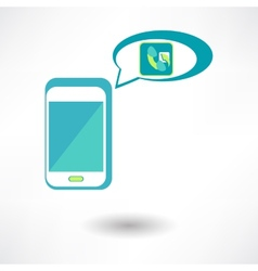 Phone Call Icon vector image vector image