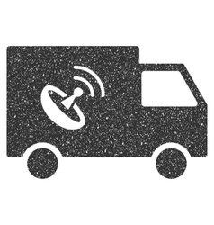 Remote Control Van Icon Rubber Stamp vector image