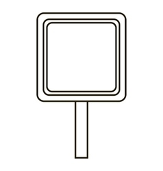 Road sign icon outline style vector image