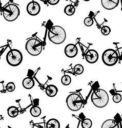 seamless bicycle bike vector image