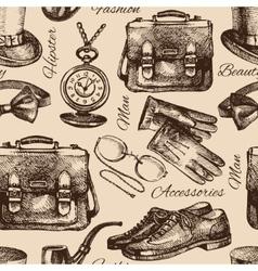 Sketch gentlemen accessories vector image vector image