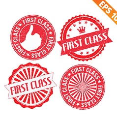 Stamp sticker first class collection - - EP vector image