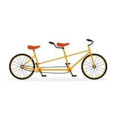 Tandem bike flat vector