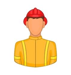 Firemen icon in cartoon style vector image