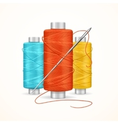 Thread spool set vector