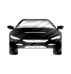 Hand drawing automobile car icon design vector